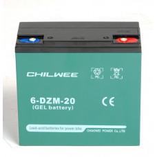 Аккумулятор 12V GEL тяговый CHILWEE 20Ah
