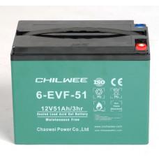 Аккумулятор 12V GEL тяговый CHILWEE 51Ah